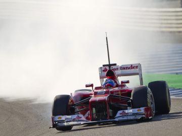 Fernando Alonso y su F2012, en Jerez