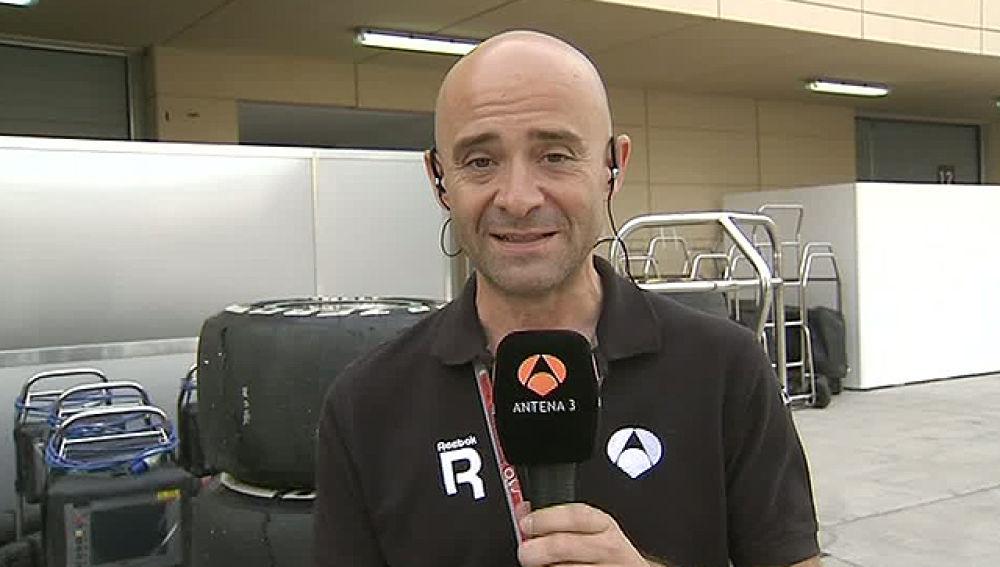 Antonio Lobato, en el circuito de Sakhir