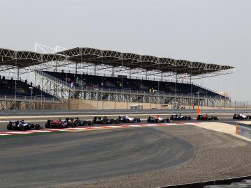 Inicio de la carrera en Bahréin