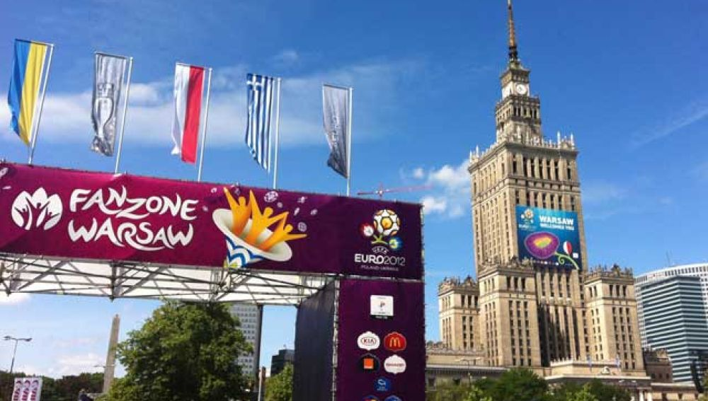 La Fan Zone de Varsovia