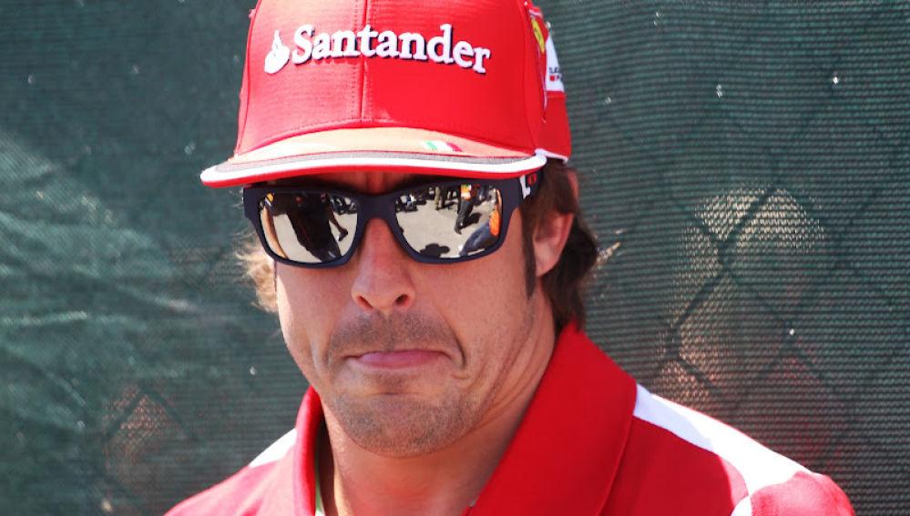 Fernando Alonso el día de la carrera
