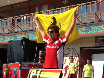 Alonso festeja el triunfo