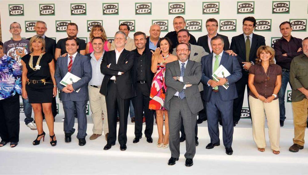 Los presentadores de Onda Cero en la presentación de la temporada 2011-2012 (EGM)