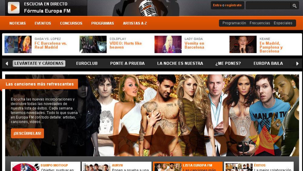 EuropaFM.com, líderes en Internet