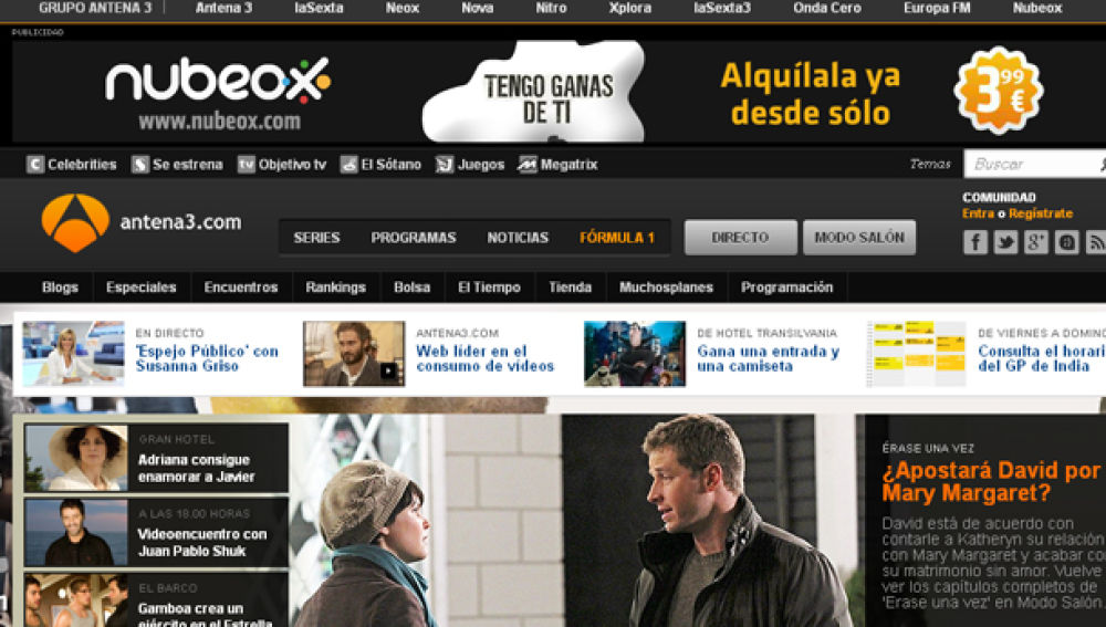 antena3.com es la web española líder