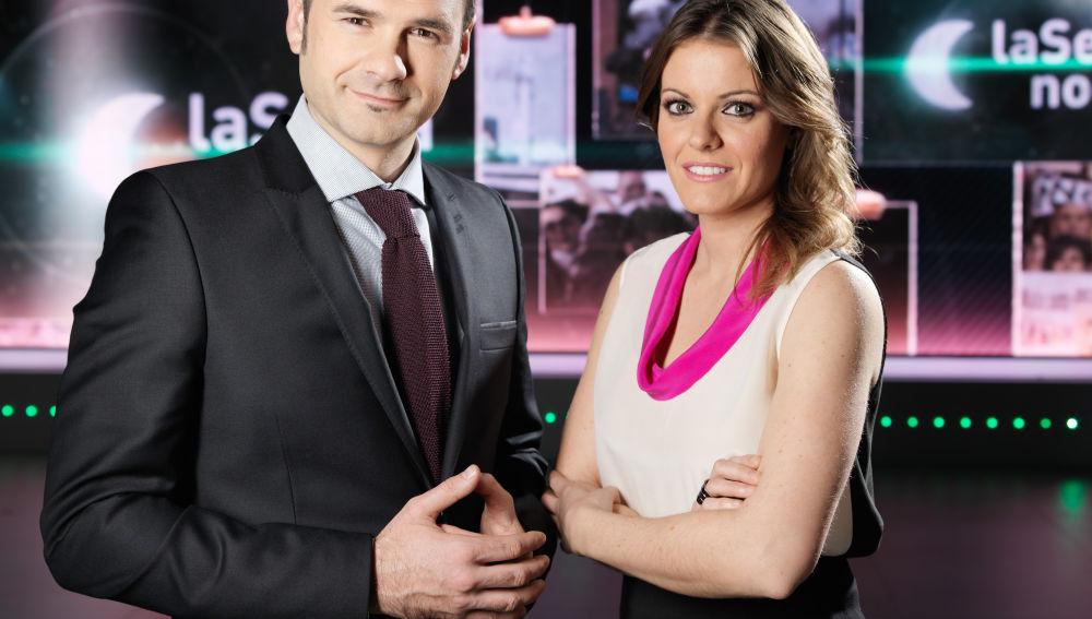 Iñaki López y Andrea Ropero presentan laSexta noche
