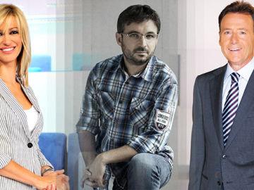 Susanna Griso, Jordi Évole y Matías Prats