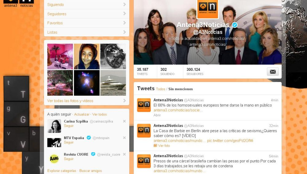 @a3Noticias logra los 300.000 seguidores en twitter