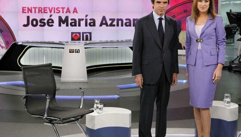 José María Aznar y Gloria Lomana, en Antena 3