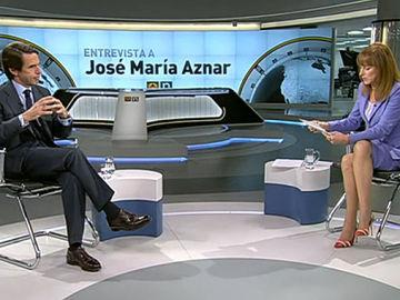 José María Aznar es entrevistado por Gloria Lomana