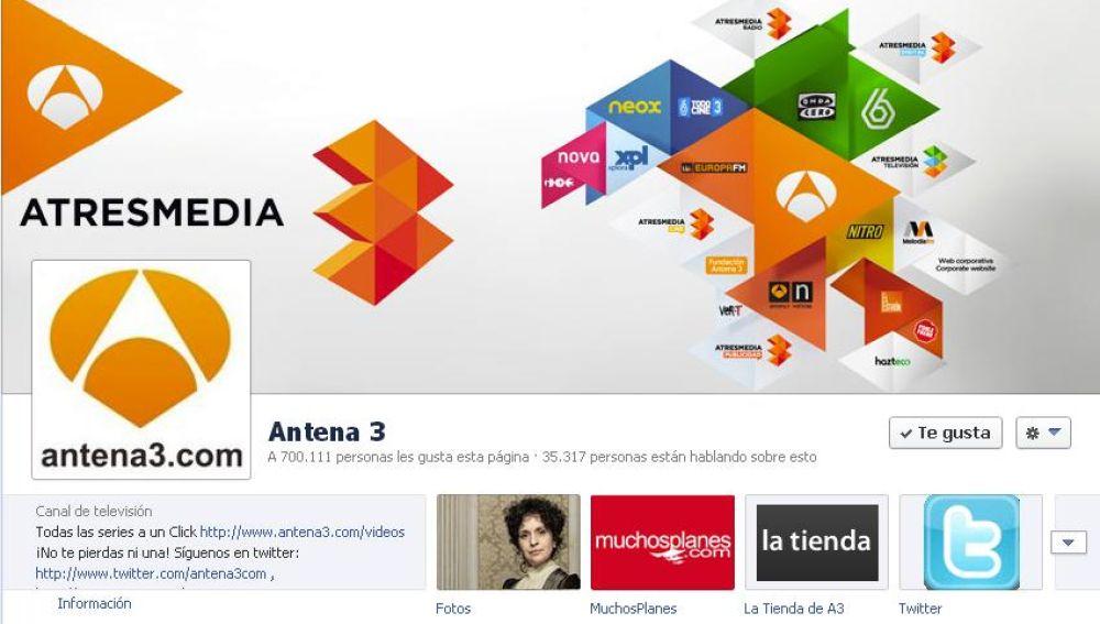 Antena 3 en Facebook