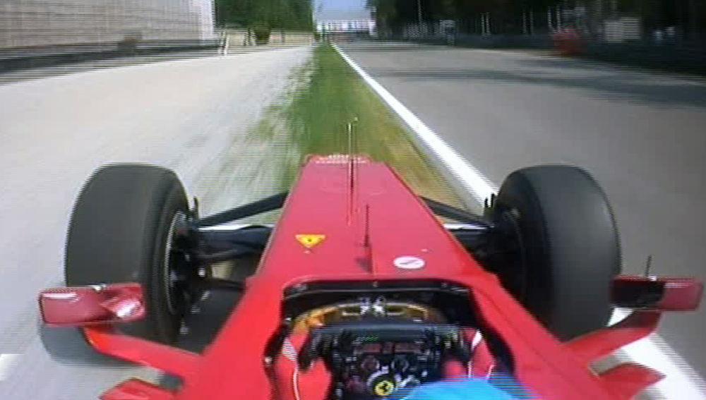 Alonso en la carrera de Monza en 2012