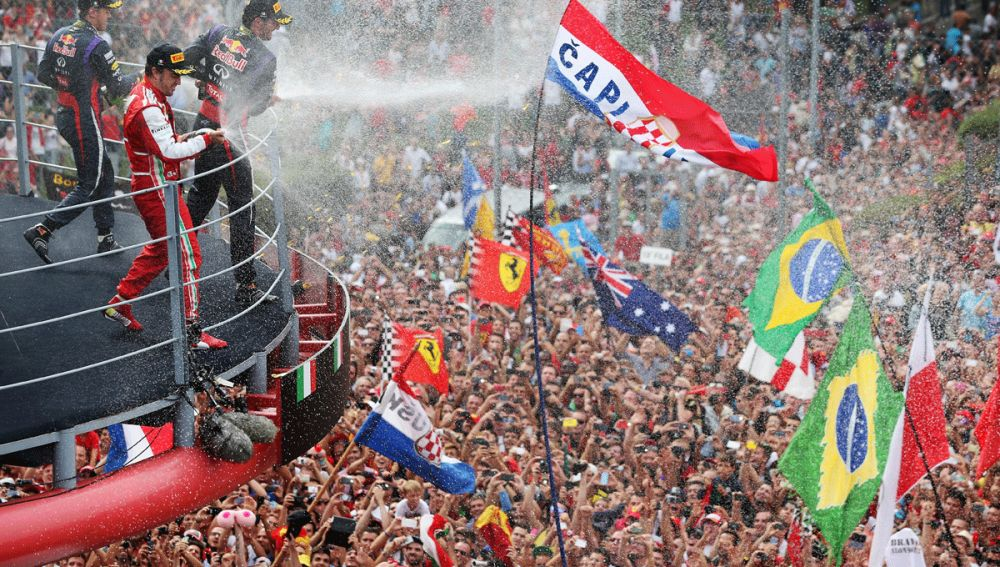 El podio del GP de Italia