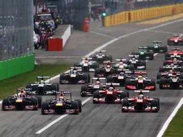 Salida del GP de Italia 2013
