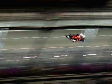El Ferrari en el GP de Singapur