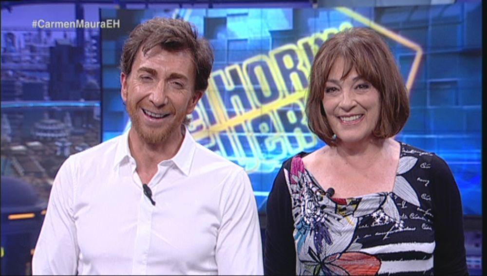 Pablo Motos y Carmen Maura