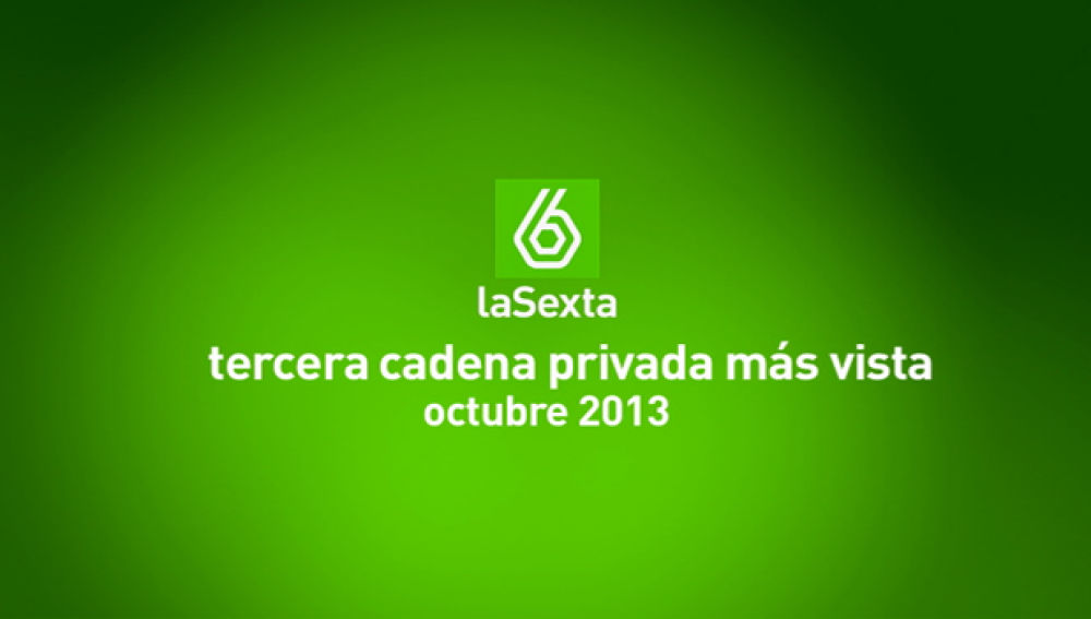 laSexta, tercera cadena privada más vista