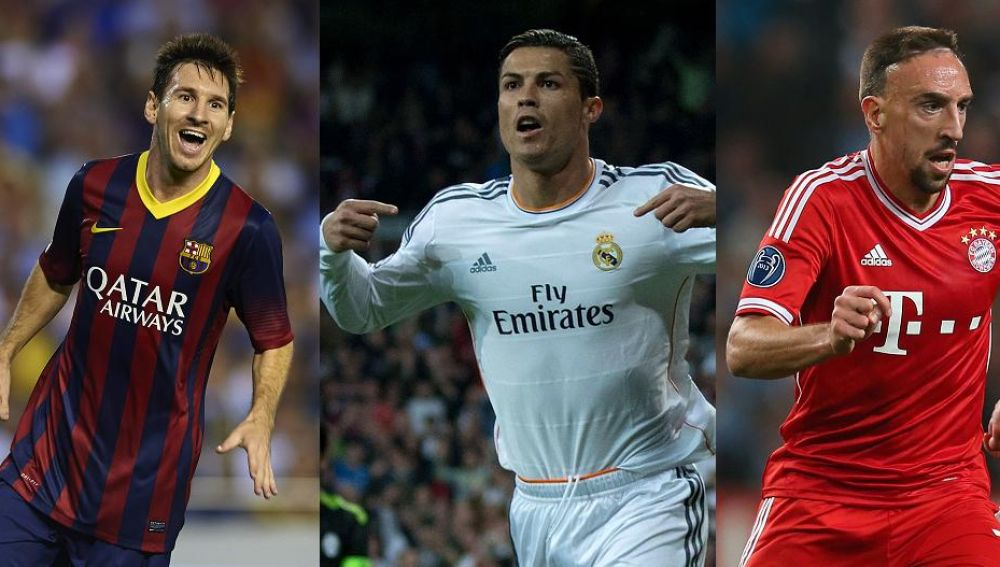 Messi, Cristiano y Ribery, finalistas del FIFA Balón de Oro