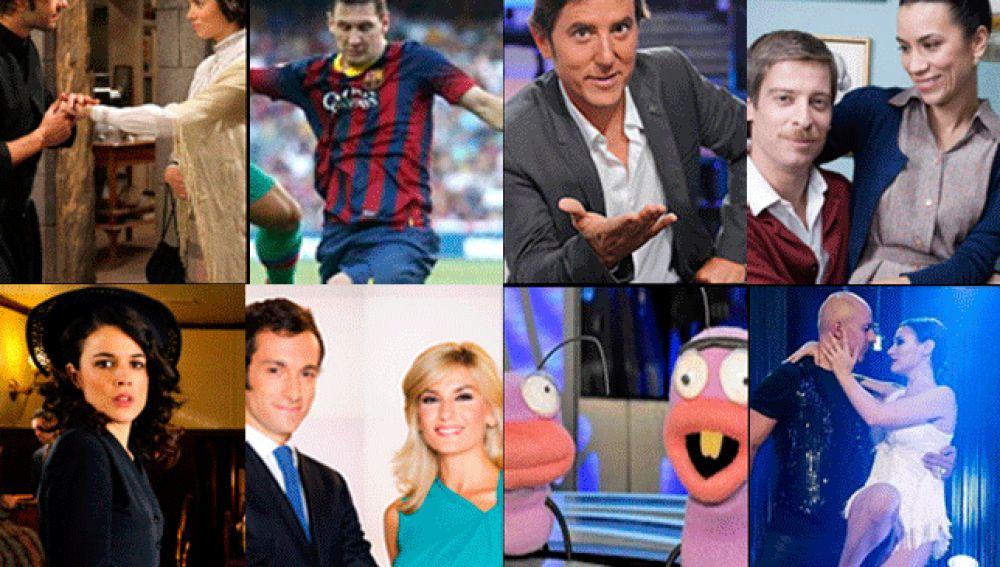 Audiencias Antena 3 - Enero 2014