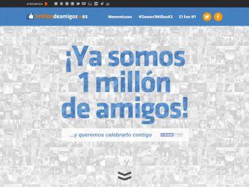 Ya somos 1 millón de amigos