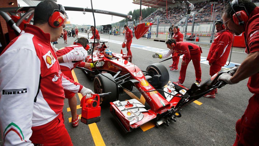 El F14 T de Alonso en Monza