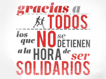 Gracias a todos los que no se detienen a la hora de ser solidarios