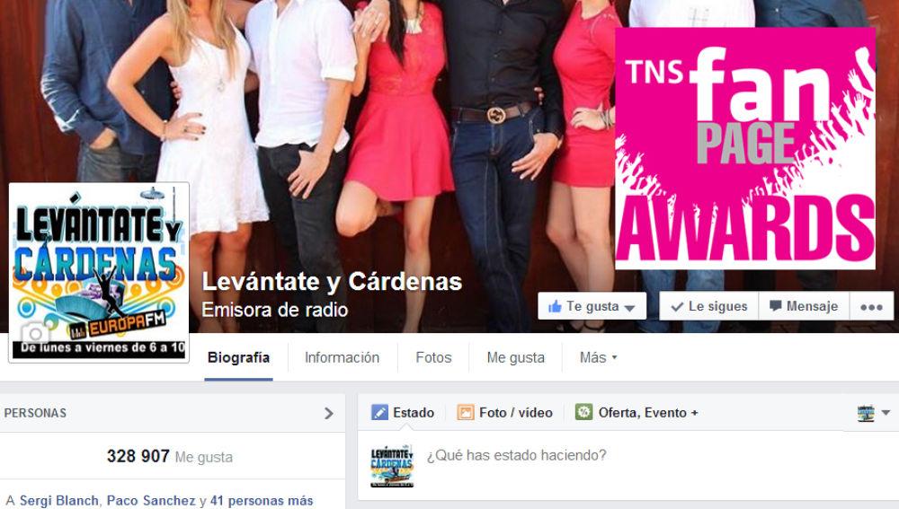 Levántate y Cárdenas, mejor página de Facebook 2014
