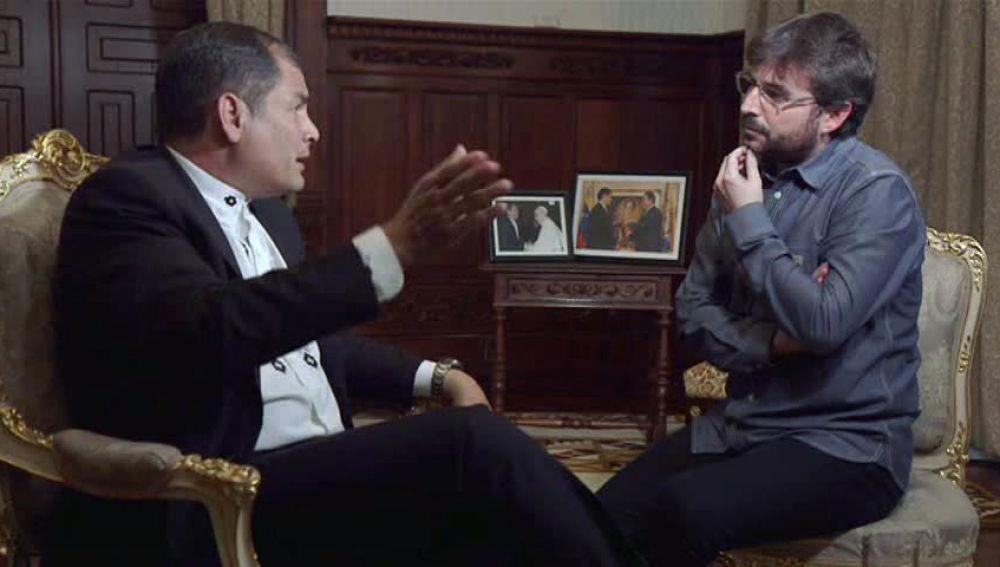 Rafael Correa charla con Jordi Évole en Salvados