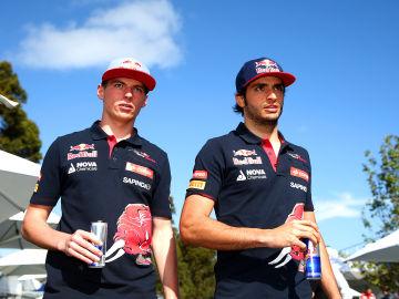 Max Verstappen y Sainz Jr en Melbourne