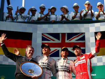 El podio del GP de Australia