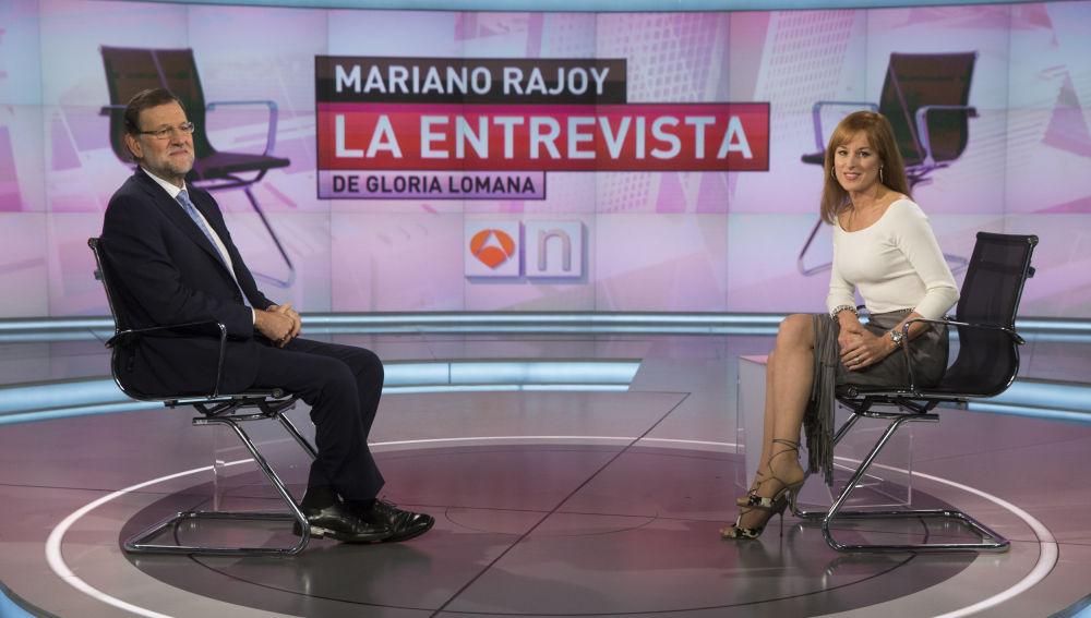 Entrevista de Gloria Lomana a Mariano Rajoy