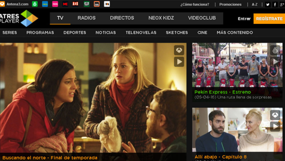 ATRESPLAYER, la aplicación de televisión preferida por los usuarios