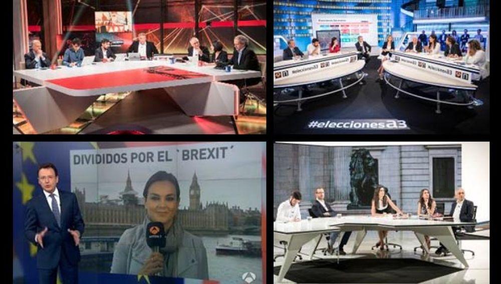 Los espectadores eligen de nuevo ATRESMEDIA TV para informarse del 26J