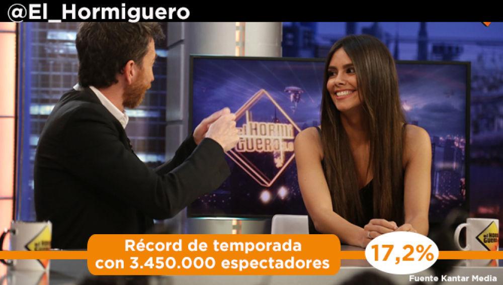 Récord de temporada por partida doble para el 'El Hormiguero 3.0'