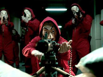 ¿Reconoces a los personajes de 'La casa de papel' con máscaras?
