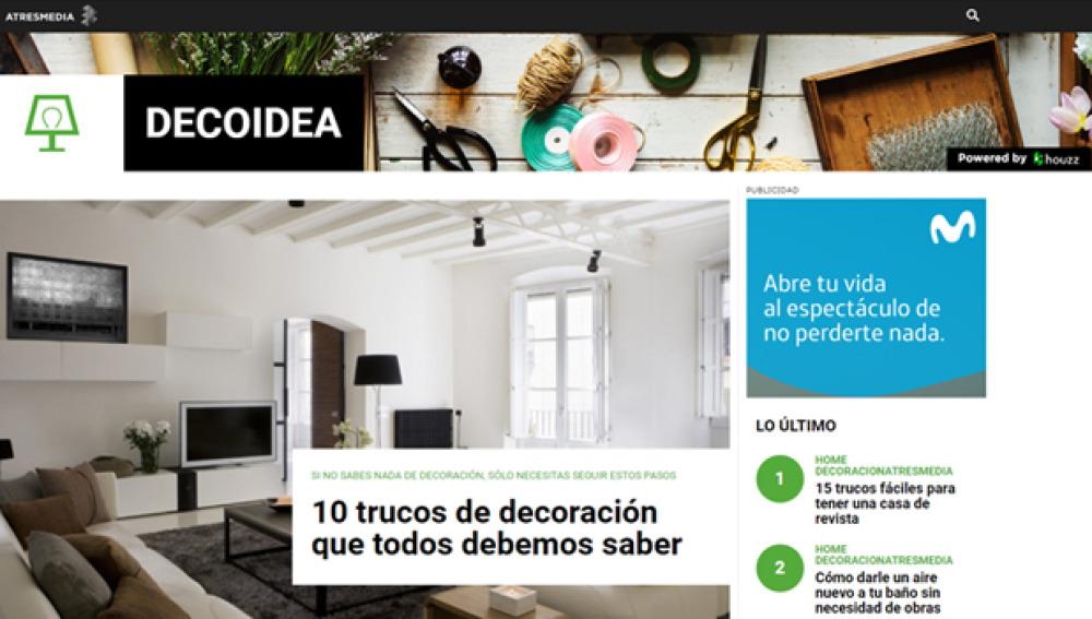 Nace 'Decoidea', el nuevo portal temático de decoración de ATRESMEDIA