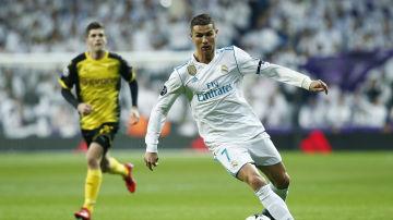 Cristiano, en un partido del Real Madrid de la pasada Champions