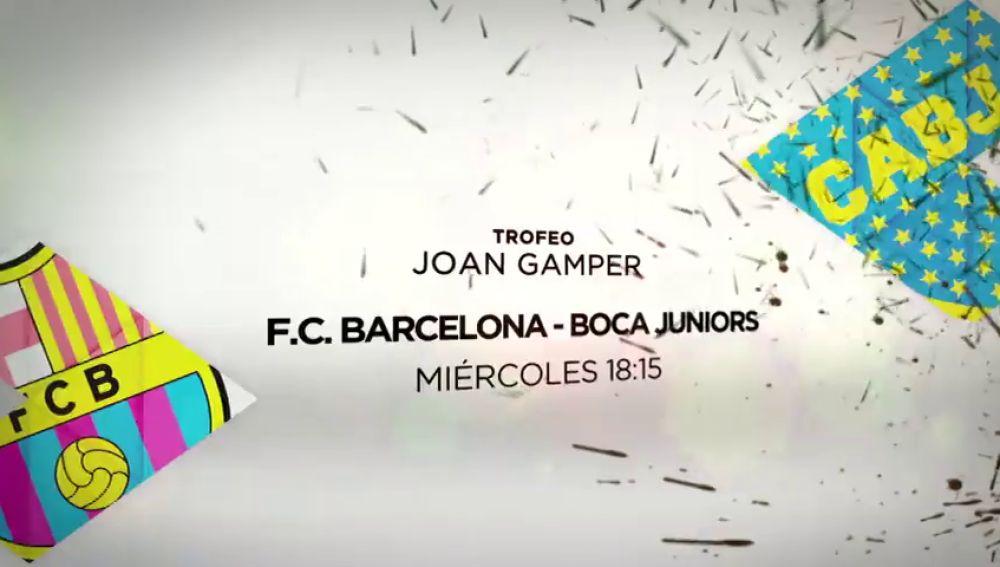 El Trofeo Joan Gamper se juega en Antena 3: F.C. Barcelona-Boca Juniors