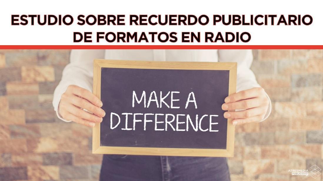 Estudio sobre recuerdo publicitarios de formatos en radio