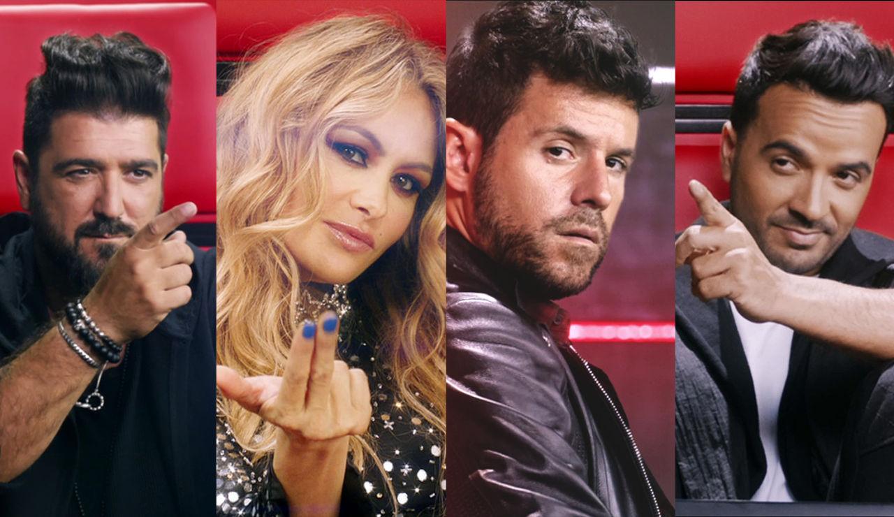 La Voz - Luis Fonsi, Pablo López, Paulina Rubio y Antonio Orozco te dan la bienvenida a La Voz Antena 3