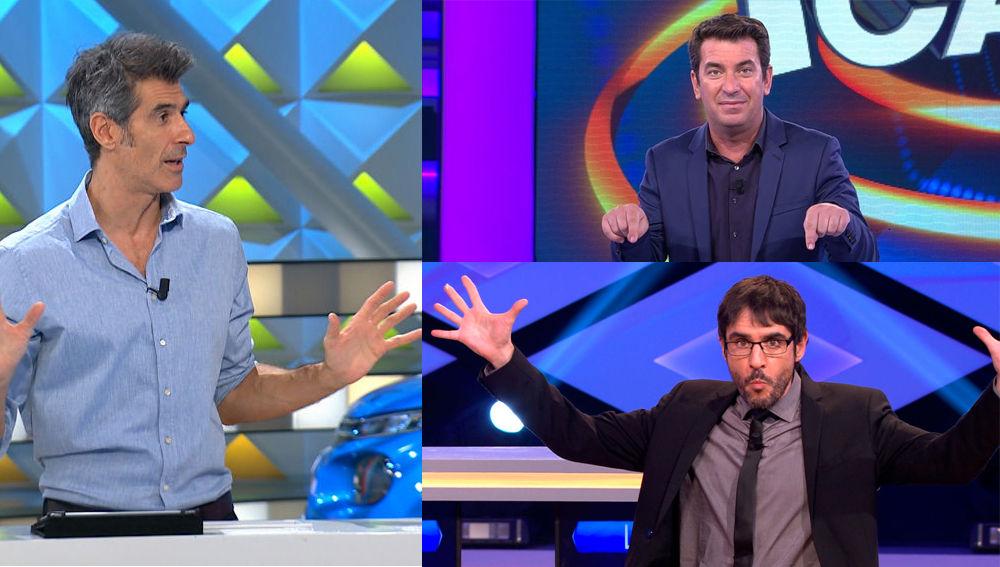 Antena 3 hace pleno con sus concursos, todos líderes de la TV: '¡Boom!, 'La ruleta' y '¡Ahora Caigo!', en su mejor registro en 3 años