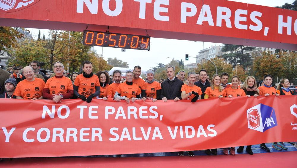 Foto de la pancarta de la 10ª Carrera Ponle Freno de Madrid