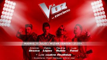 Fecha y cómo comprar las entradas del concierto de 'La Voz'