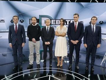 Candidatos y moderadores de 'El Debate Decisivo'