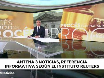 Antena 3 y laSexta, referentes informativos en España según un informe de Reuters y la Universidad de Oxford