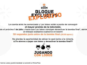 """Bloque exclusivo Boom """"Jugando con lobos"""""""