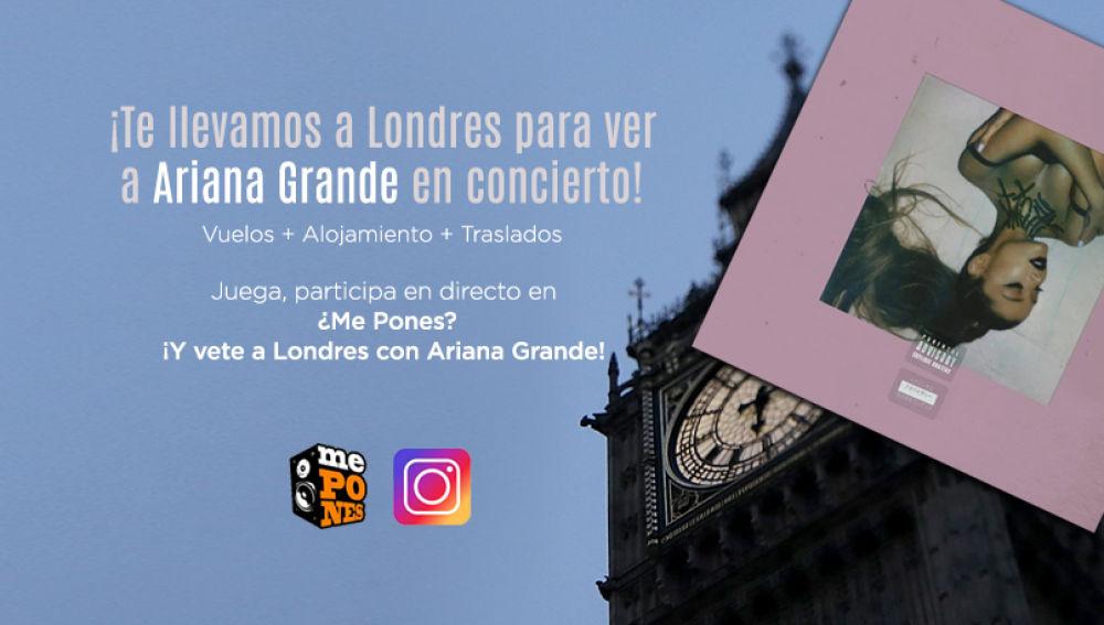 ¡Te llevamos a Londres a ver a Ariana Grande en concierto!