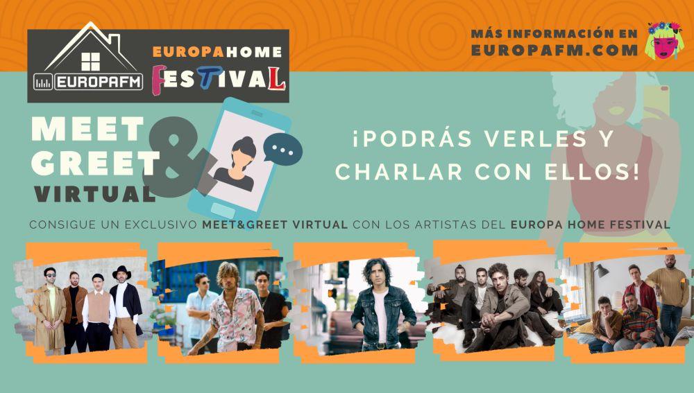 Meet & Greet virtual con los artistas del Europa Home Festival