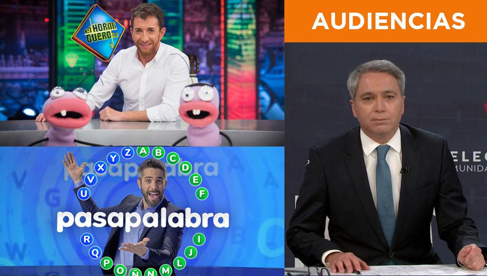 Audiencias Atresmedia 17 de Mayo