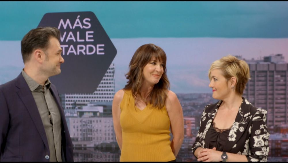 Cristina Pardo e Iñaki López, con Mamen Mendizábal en Más Vale Tarde